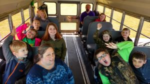 Going on a Bowling Trip in our new church bus.