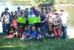 Fishing Tournament 2016. Thanks to George Dowdy for letting us use his pond!